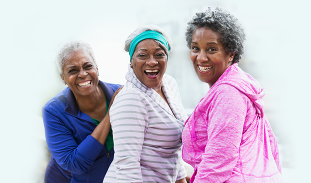 Group of senior women excercising outdoor